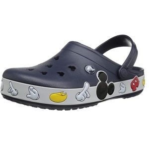 CROCS Mickey Mouse Crocband Clogs, sz 7